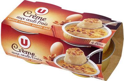 Desserts lactés à la crème aux oeufs frais saveur caramel et fleur desel - Produit