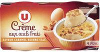 Desserts lactés à la crème aux ufs frais saveur caramel et fleur de sel - Produit - fr