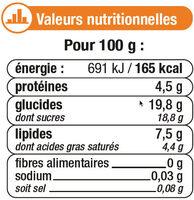 Desserts lactés à la crème aux oeufs frais saveur caramel et fleur desel - Informations nutritionnelles - fr