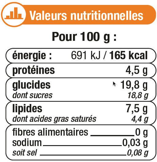 Desserts lactés à la crème aux ufs frais saveur caramel et fleur de sel - Informations nutritionnelles - fr