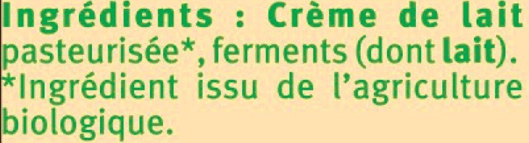 Beurre doux 82% de MG - Ingrédients