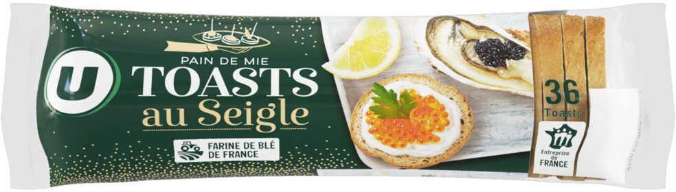 Toasts ronds au seigle spécial saumon - Product - fr