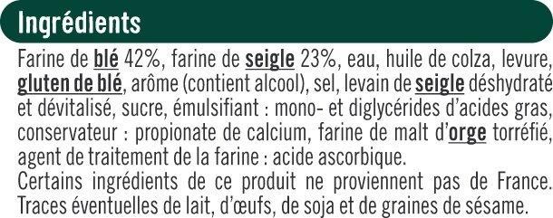 Toasts ronds au seigle spécial saumon - Ingredienti - fr