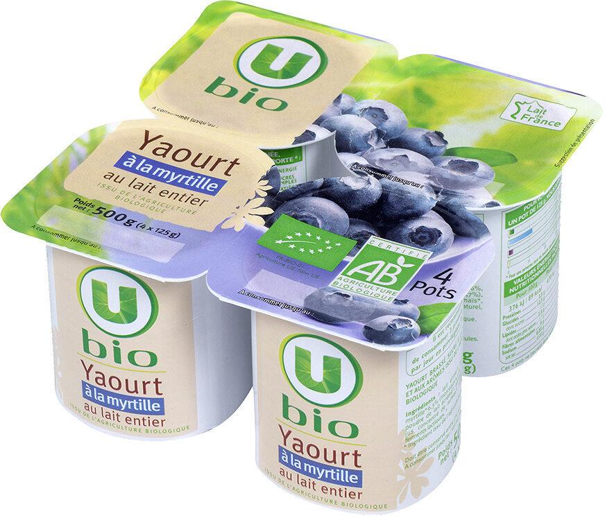 Yaourts Brassés Sucrés aux Myrtilles - Produit