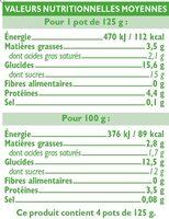 Yaourts Brassés Sucrés aux Myrtilles - Informations nutritionnelles