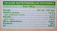 Pavé de saumon Norvège - Informations nutritionnelles - fr