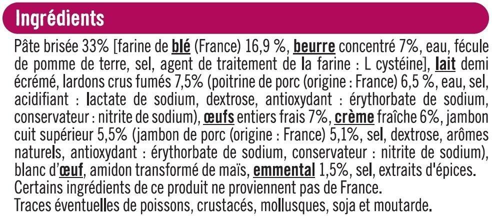 Quiche Lorraine - Ingredients - fr
