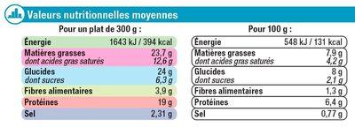 Saumon purée aux brocolis - Informations nutritionnelles - fr
