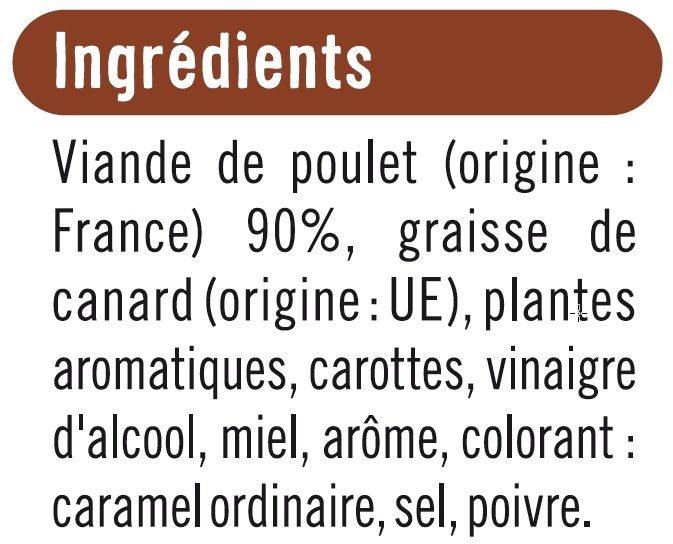 Rillettes de poulet rôti en cocotte - Ingrediënten