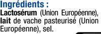 Ricotta au lait pasteurisé 9% de MG - Ingredients
