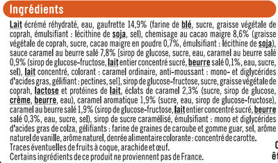 Cônes caramel beurre salé - Ingredients