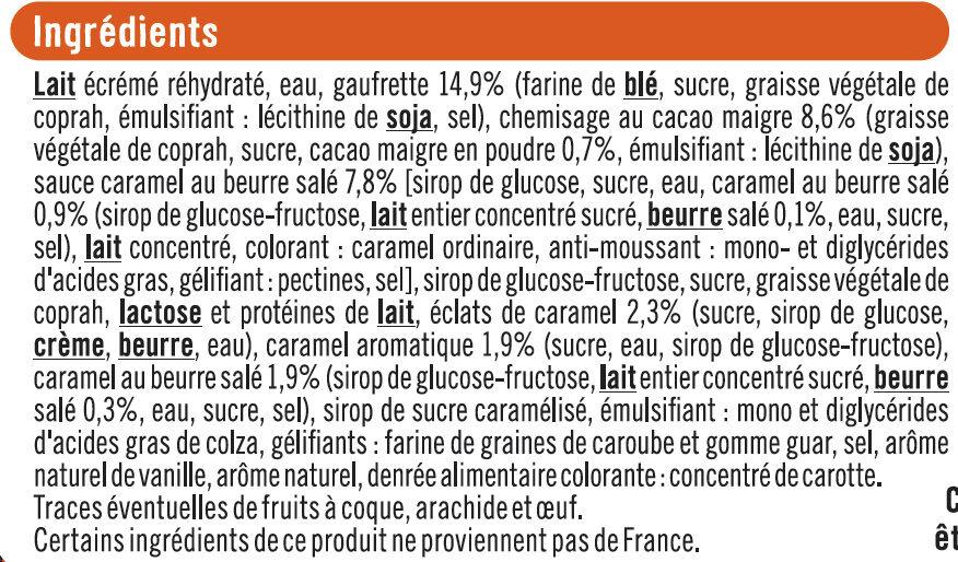 Cônes caramel beurre salé - Ingredients - fr