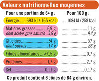 Cônes caramel beurre salé - Nutrition facts