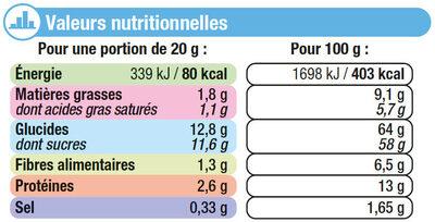Chicorée café au lait - Informations nutritionnelles - fr