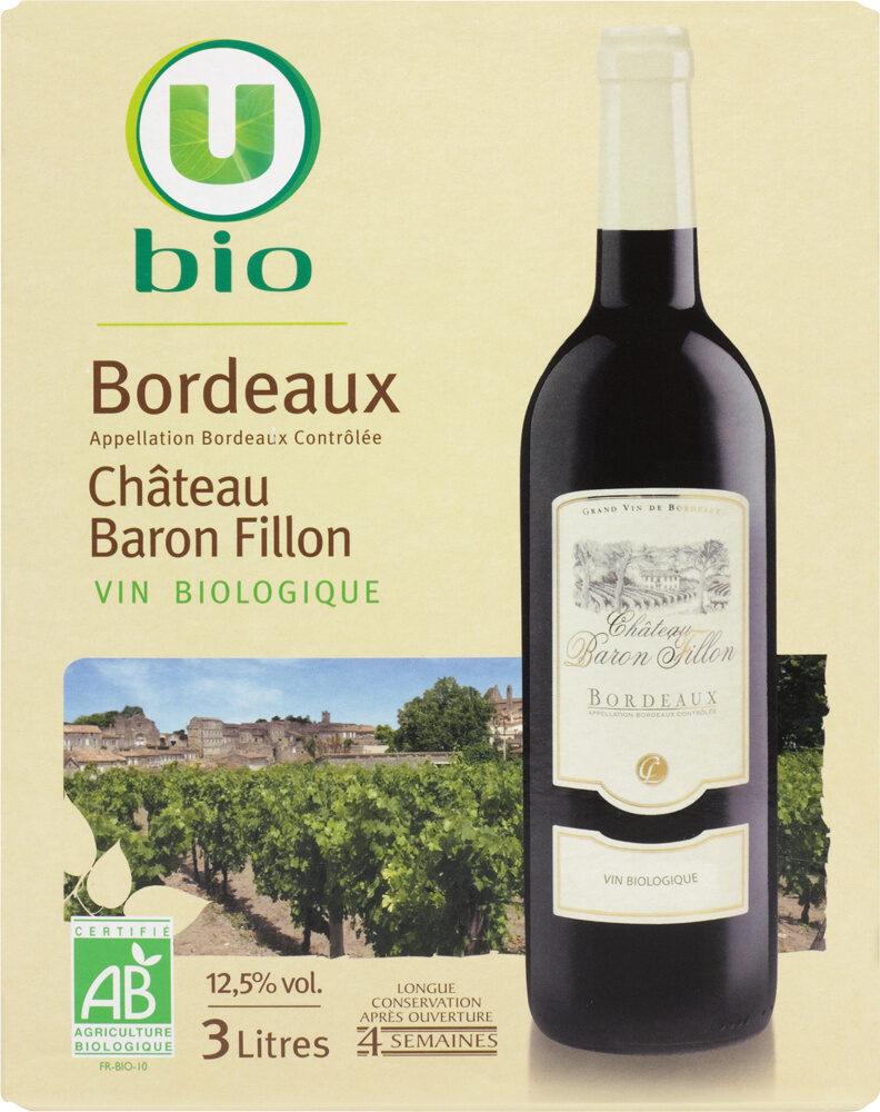 Vin rouge AOC Bordeaux Château Baron Fillon - Product - fr