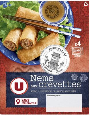Nems aux crevettes x4 + sauce nuoc mam - Product - fr