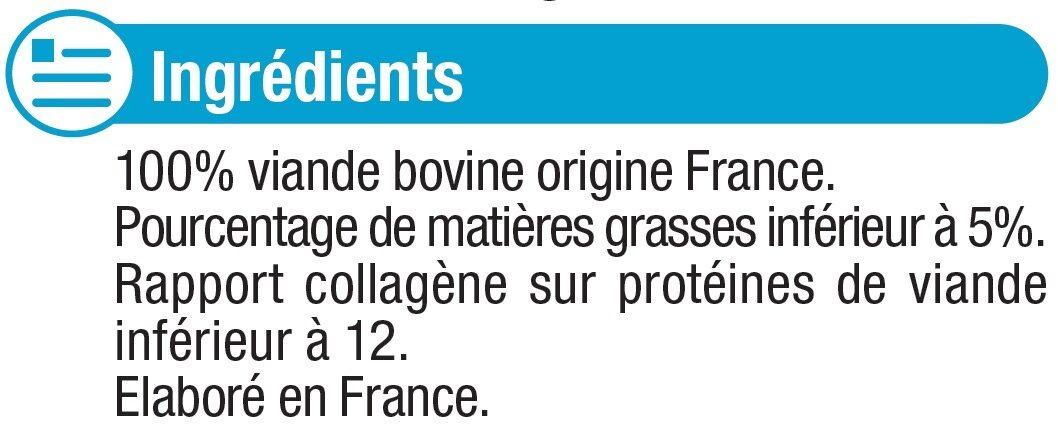 Steaks hachés pur boeuf 5%MG VBF - Ingrédients