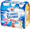 Yaourts à boire 3 parfums fraise vanille framboise - Product