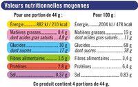 Biscuits noir et blanc - Nutrition facts