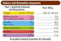 Petit déjeuner tout céréales - Informations nutritionnelles - fr