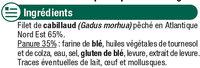 Filets de cabillaud panés - Ingrédients