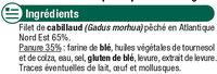 Filets de cabillaud panés - Ingredients