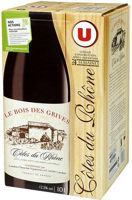 Vin rouge AOC Côtes du Rhône Le Bois des Grives - Product