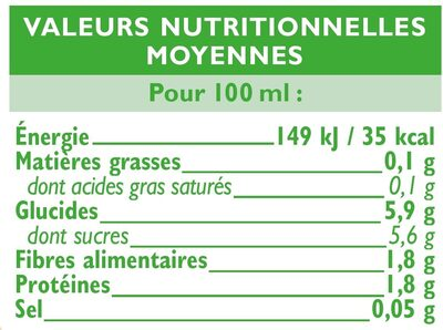 Coulis tomate - Nutrition facts - fr