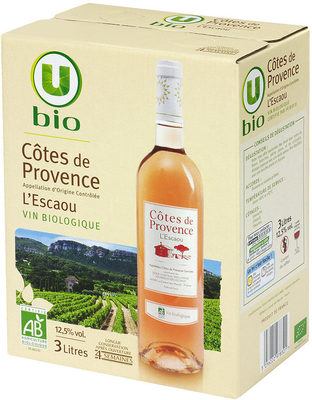 Vin rosé AOC Côtes de Provence L'Escaou - Product