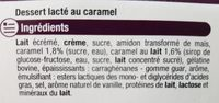 Liégeois au caramel - Ingredients