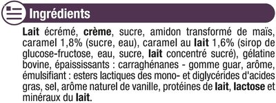 Liégeois au caramel - Ingrediënten