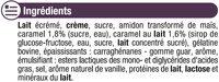 Liégeois au caramel - Ingrédients - fr