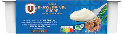 Yaourt brassé nature sucré - Produit - fr
