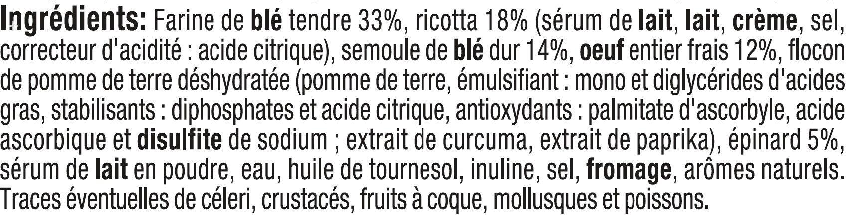 Tortellini ricotta épinards - Ingrédients