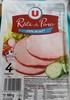 Rôti de Porc (-25% de sel) - Produit