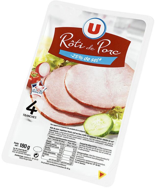 Rôti de porc - 25% de sel Viande de Porc Française - Produit