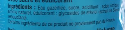 Limonade - Ingredients - fr