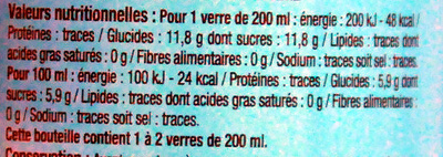 Tonic - Informations nutritionnelles - fr