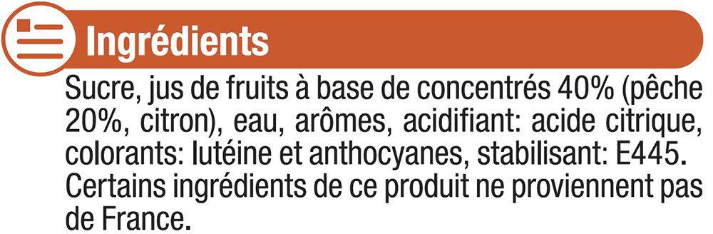 Sirop de pêche - Ingredienti - fr