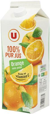 Pur jus orange sans pulpe - Produit