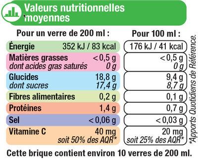 Pur jus orange sans pulpe - Informations nutritionnelles - fr