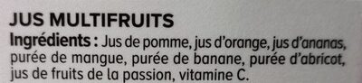 Pur jus pressé multifruits - Ingrediënten - fr