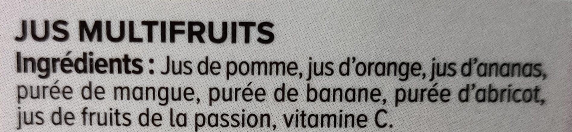 Pur jus pressé multifruits - Ingrédients - fr