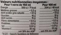 Pur jus pressé multifruits - Voedingswaarden - fr