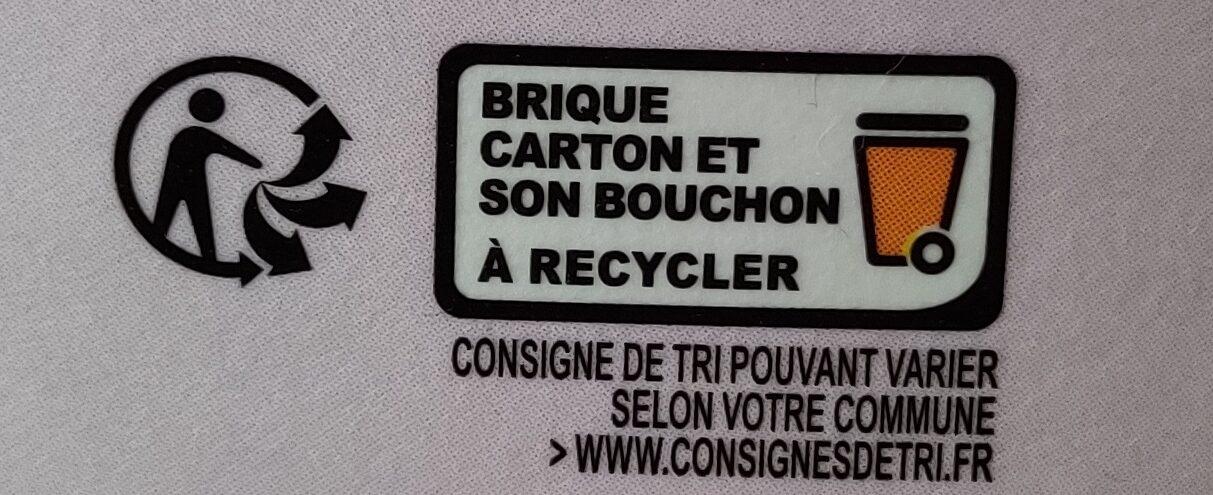 Pur jus pressé multifruits - Instruction de recyclage et/ou information d'emballage - fr