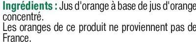 Jus à base de concentré d'orange - Ingredients - fr