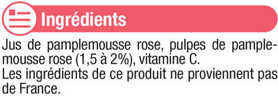 Pur jus de pamplemousse rose - Ingredients - fr