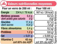 Pur jus de pamplemousse rose - Nutrition facts - fr