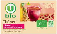 Thé vert saveur ananas cranberry - Produit - fr
