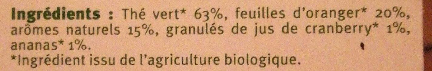 Thé vert saveur ananas cranberry - Ingrédients - fr